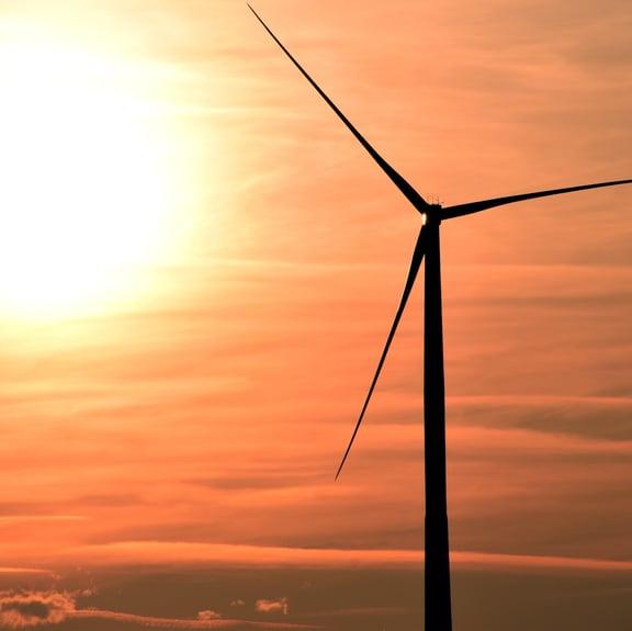 Wind farm via Pexels